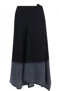 Льняная расклешенная юбка-миди Yohji Yamamoto