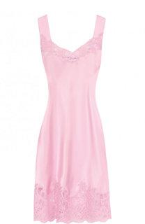 Приталенное шелковое платье с кружевной отделкой Givenchy