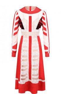 Приталенное шелковое платье-миди Valentino