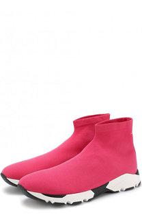 Текстильные кроссовки на широкой подошве Mm6