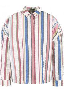 Хлопковая блуза в полоску с укороченным рукавом Tata Naka