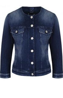 Приталенная джинсовая куртка с потертостями Jacob Cohen