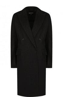 Однотонное двубортное пальто из льна Ann Demeulemeester