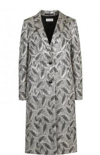 Пальто прямого кроя с узором Dries Van Noten