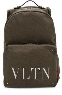 Текстильный рюкзак Valentino Garavani с внешним карманом на молнии Valentino
