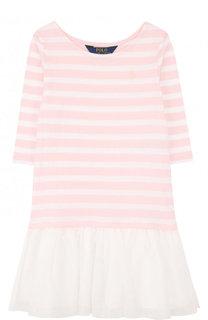 Мини-платье джерси в полоску Ralph Lauren