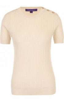 Пуловер из смеси шерсти и шелка с коротким рукавом Ralph Lauren