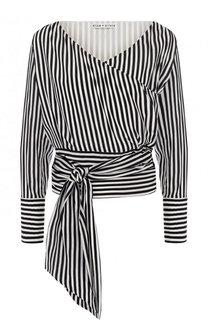 Шелковая блуза в контрастную полоску Alice + Olivia