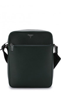 Кожаная сумка-планшет с двумя отделениями на молнии Serapian