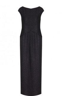 Платье-макси прямого кроя с круглым вырезом St. John
