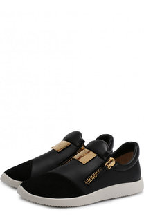 Комбинированные кроссовки Runner Giuseppe Zanotti Design