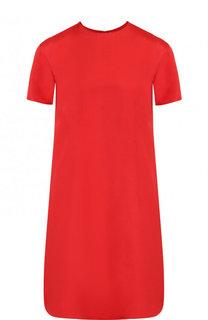 Однотонное шелковое платье свободного кроя Valentino