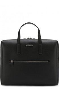 Кожаная сумка для ноутбука Saint Laurent