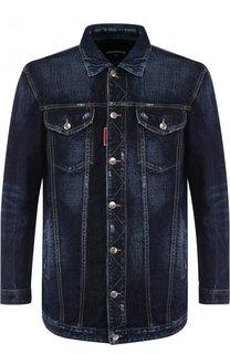 Джинсовая куртка свободного кроя на пуговицах Dsquared2