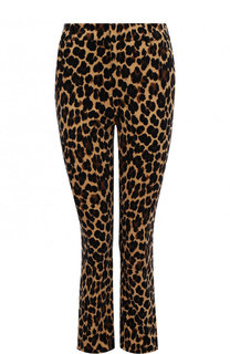 Укороченные расклешенные джинсы с леопардовым принтом Frame Denim