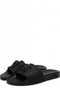 Резиновые шлепанцы Barocco с декором Versace