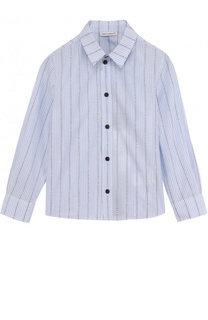 Хлопковая рубашка в полоску Dolce & Gabbana