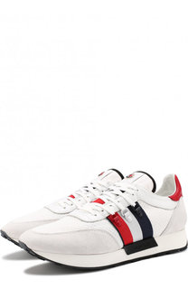 Комбинированные кроссовки Horace Scarpa Moncler