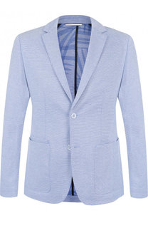 Однобортный хлопковый пиджак BOSS
