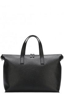 Кожаная сумка-шоппер с плечевым ремнем BOSS