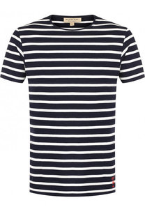Хлопковая футболка в контрастную полоску Burberry