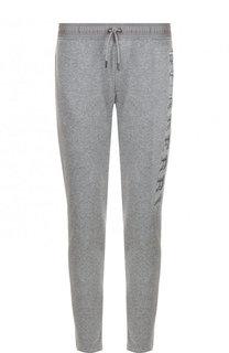 Хлопковые брюки прямого кроя с поясом на резинке Burberry