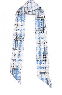 Шелковый шарф-бандо с принтом Burberry