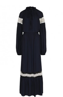 Приталенное платье-макси с длинным рукавом Poustovit