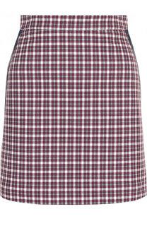 Хлопковая мини-юбка в клетку Burberry