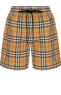 Хлопковые мини-шорты с эластичным поясом Burberry