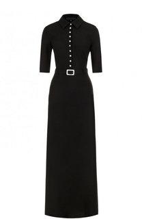 Шелковое платье-рубашка с коротким рукавом Tegin