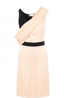 Приталенное мини-платье с драпировкой Lanvin
