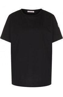 Хлопковая футболка свободного кроя с круглым вырезом Moncler