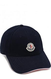 Хлопковая бейсболка с логотипом бренда Moncler