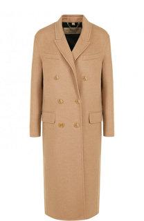 Двубортное шерстяное пальто свободного кроя Burberry