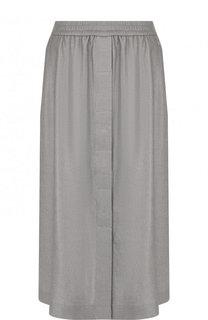 Однотонная юбка из смеси льна и вискозы Escada Sport