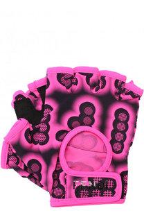 Текстильные перчатки для фитнеса с принтом Fendi