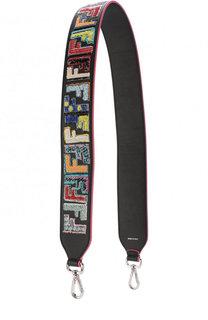 Кожаный ремень для сумки с аппликацией Fendi