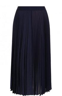 Однотонная плиссированная юбка-миди Escada Sport