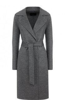Однотонное пальто из смеси шерсти и кашемира с поясом Windsor