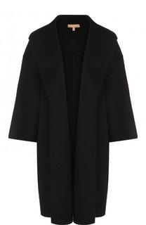 Однотонное пальто свободного кроя с укороченным рукавом Michael Kors Collection