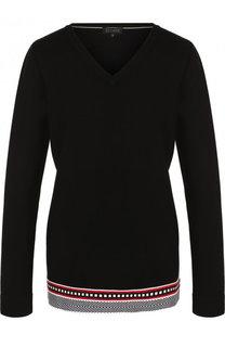 Пуловер из вискозы с V-образным вырезом Escada