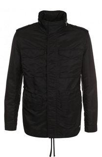 Куртка на молнии с воротником-стойкой HUGO