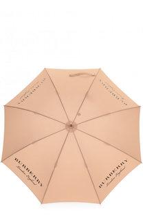 Зонт-трость с логотипом бренда Burberry