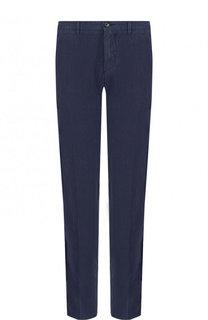 Льняные брюки прямого кроя BOSS
