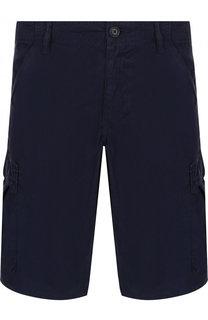 Хлопковые шорты с накладными карманами BOSS