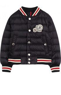 Пуховая куртка-бомбер Moncler Enfant