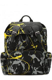 Текстильный рюкзак с принтом Burberry