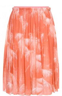 Шелковая мини-юбка с принтом Escada Sport