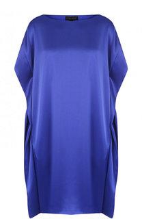 Мини-платье свободного кроя с круглым вырезом Escada